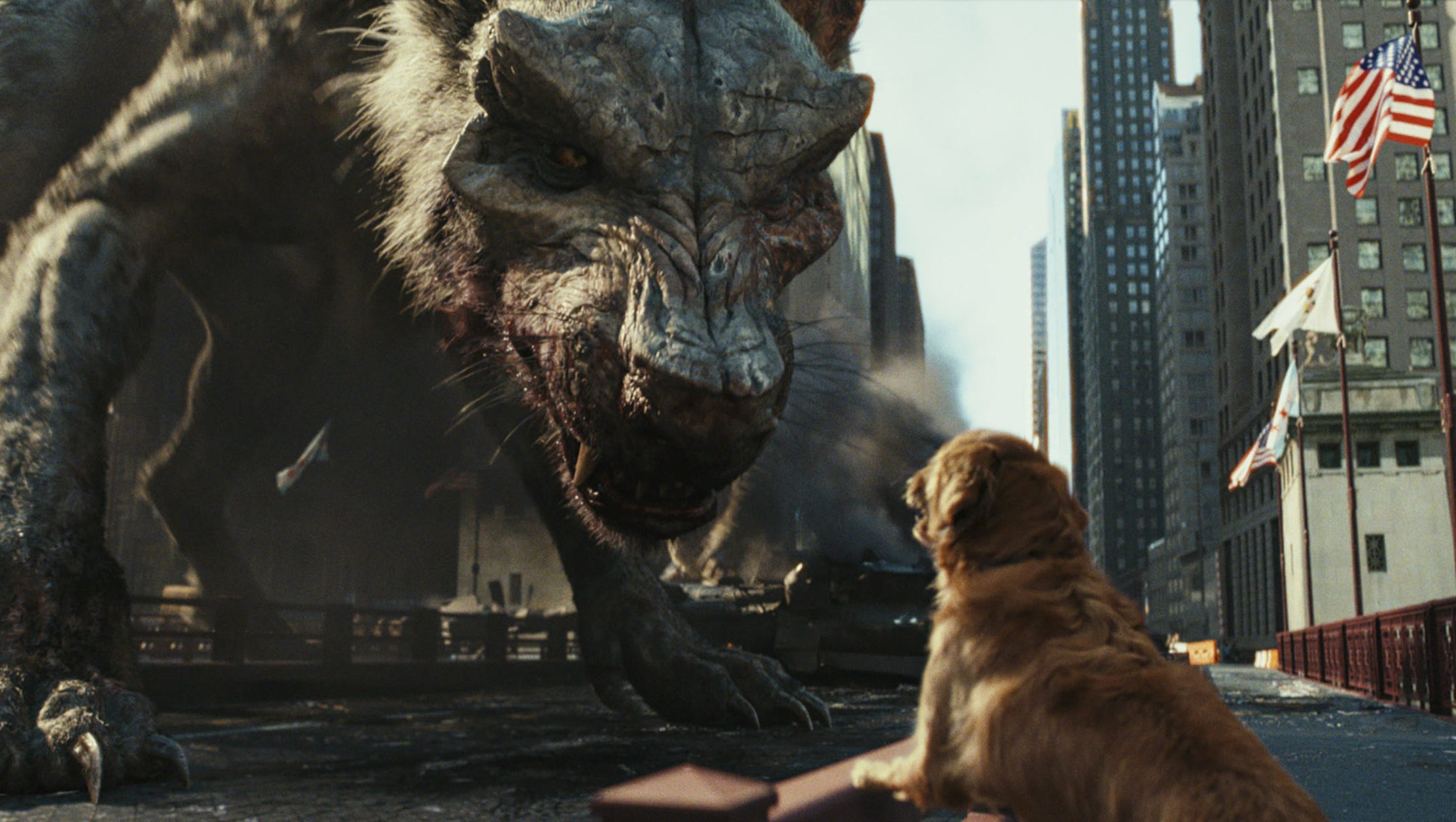 Rampage Unleashes Monster Animals The Rock And Silliness Review