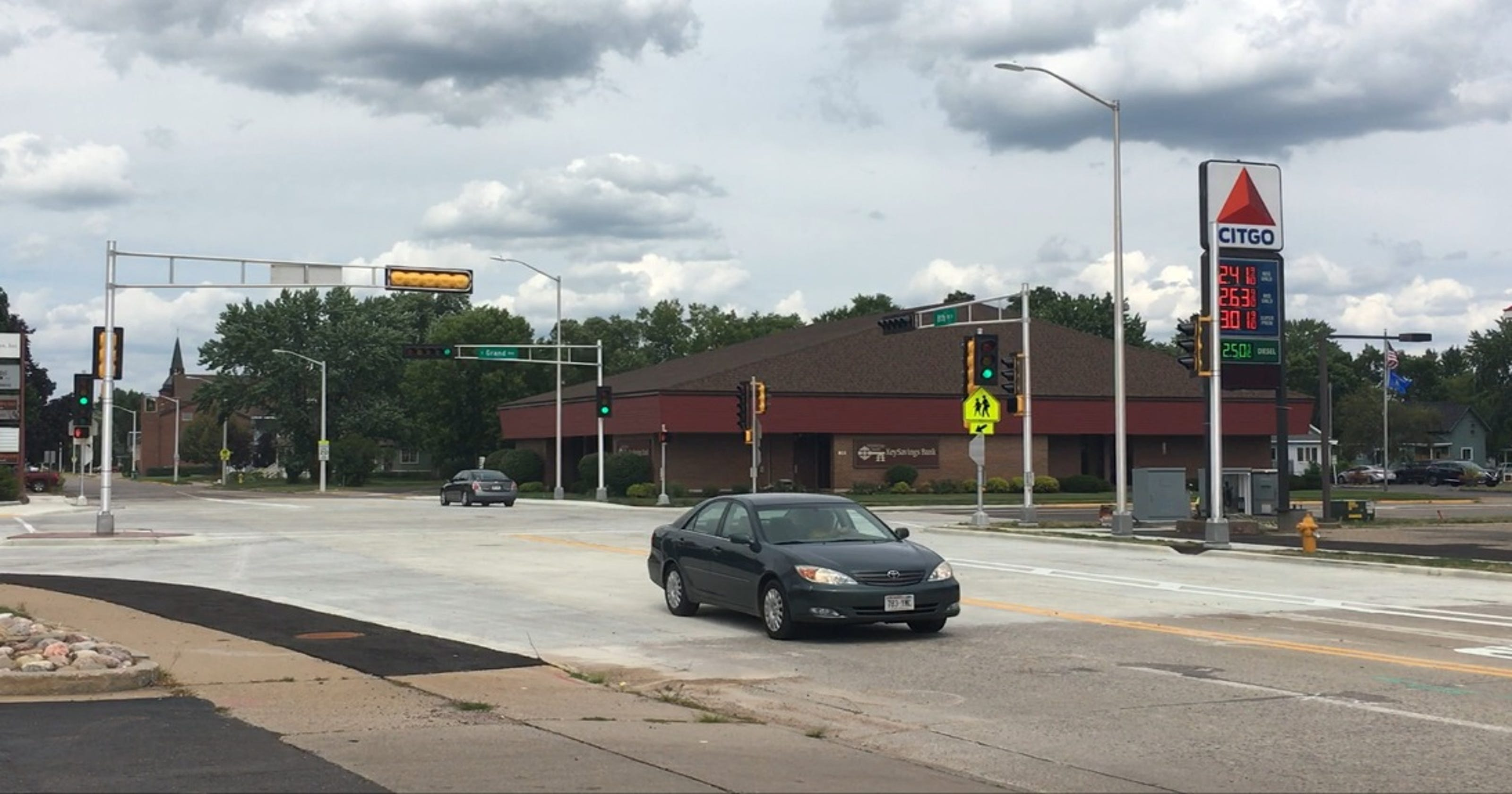 East Grand Avenue, Eighth Street South intersection opens to