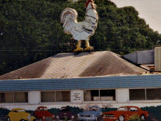 The Chicken Box drive-in restaurant in the Circle on