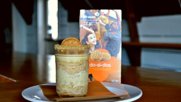 Chef Stu Weisman from Papa Grande's Fenwick: RumChata spiked Mexican peanut butter mousse, made with Do-si-dos cookies and fresh mascarpone.