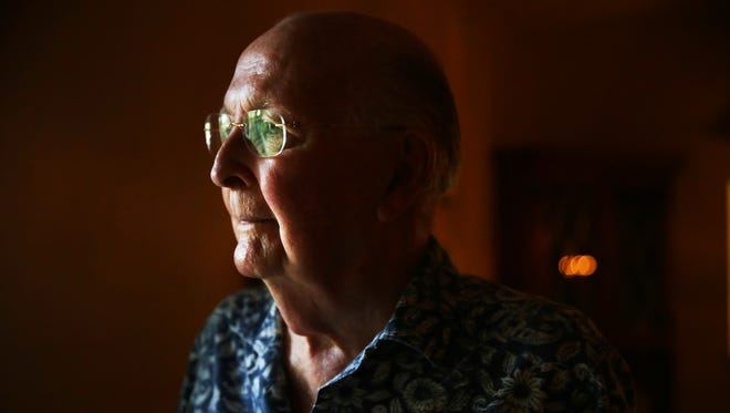 Ted Green, 95, in his East Naples home on Wednesday, Nov. 2, 2016. Green served in the Navy during World War II. He retired in 1946 as a lieutenant.