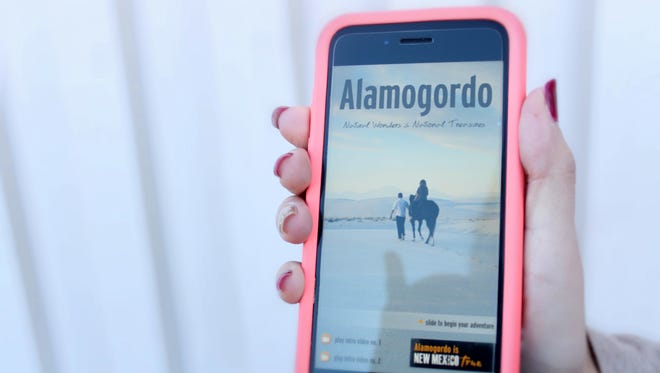 Designed by Touch Point Designs, the app features information about Alamogordo, including area attractions, area maps and directions, local climate information, a calendar of events, lodging and dining information.