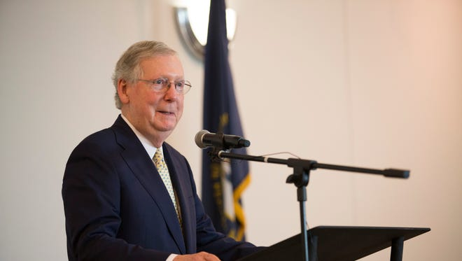 Senate Majority Leader Mitch McConnell in June.