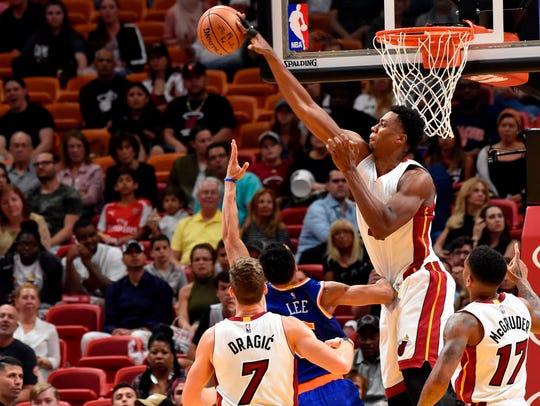 Miami's Hassan Whiteside is one of the former D-league's biggest success stories.