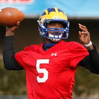 """Jamie Jarmon, who was No. 3 on the UD depth chart at quarterback, asked to make the move to safety. UD coach Dave Brock says the change is """"permanent for now."""""""