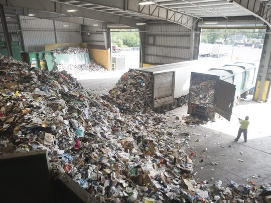Recyclables sorted by customers arrive Sept. 15 at the Recycling Authority of Southwest Oakland County. Plastic bags are not recyclable at curb-side programs. They have to be taken to special facilities.
