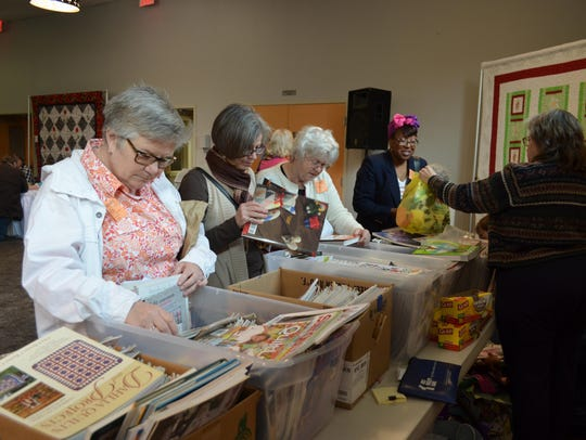 """Vendors sold quilting supplies at """"A Garden of Quilts"""""""