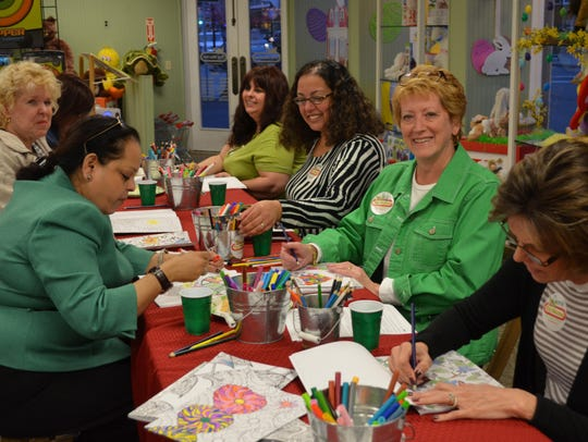 Toy Market hosted a coloring event for adults during