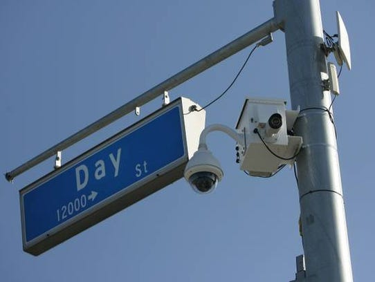 Cameras have been installed on traffic lights and street
