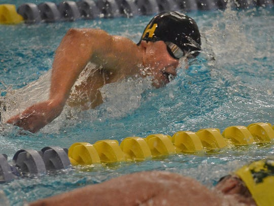 Hartland's Cory Nelligan won the 200 and 100 freestyle