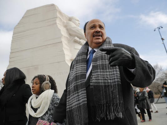 Martin Luther King III,Arndrea Waters,Yolanda Renee King