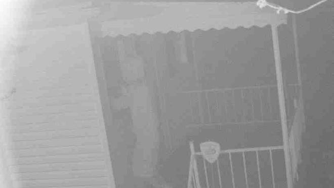 A man was captured on a trail camera breaking into an elderly woman's home Thursday in Pleasantville.
