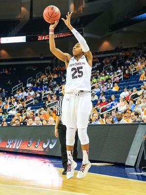 Tiffany Mitchell averaged 15.2 points a game to lead South Carolina.