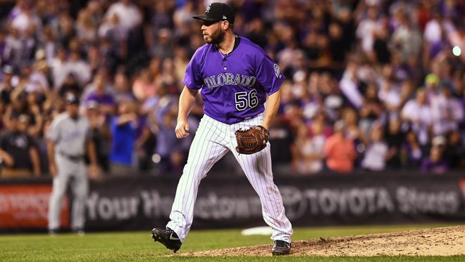WNC native Greg Holland had a fist-pumping and fist-bumping kind of season in 2017, when he re-established himself as one of the best relief pitchers in the major leagues.