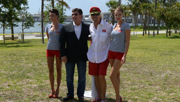 Sir Richard Branson and Virgin Cruises president and
