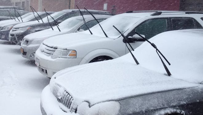 Windshield wipers at attention
