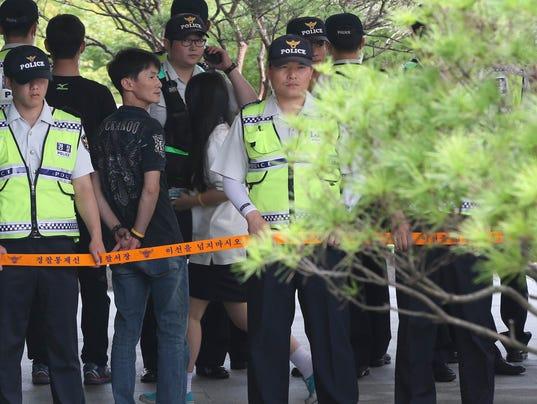 AP South Korea Ship Sinks Students