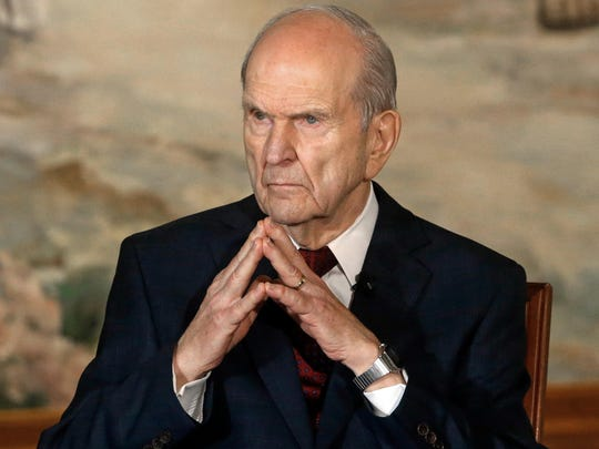 "In this Jan. 16, 2018, file photo, President Russell M. Nelson looks on following a news conference, in Salt Lake City. The president of the Mormon church is asking people to refrain from using ""Mormon"" or ""LDS"" as a substitute for the full name of the religion: The Church of Jesus Christ of Latter-day Saints, Thursday, Aug. 16, 2018."