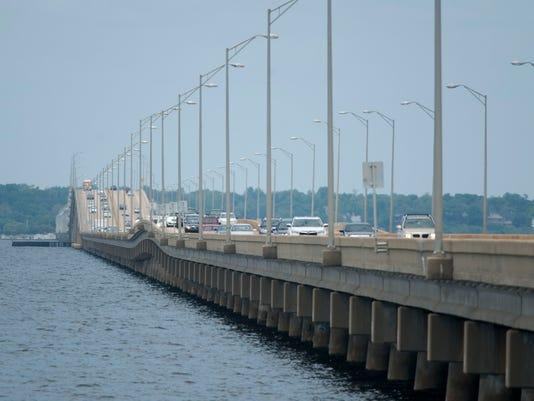 Pensacola Bay Bridge Traffic
