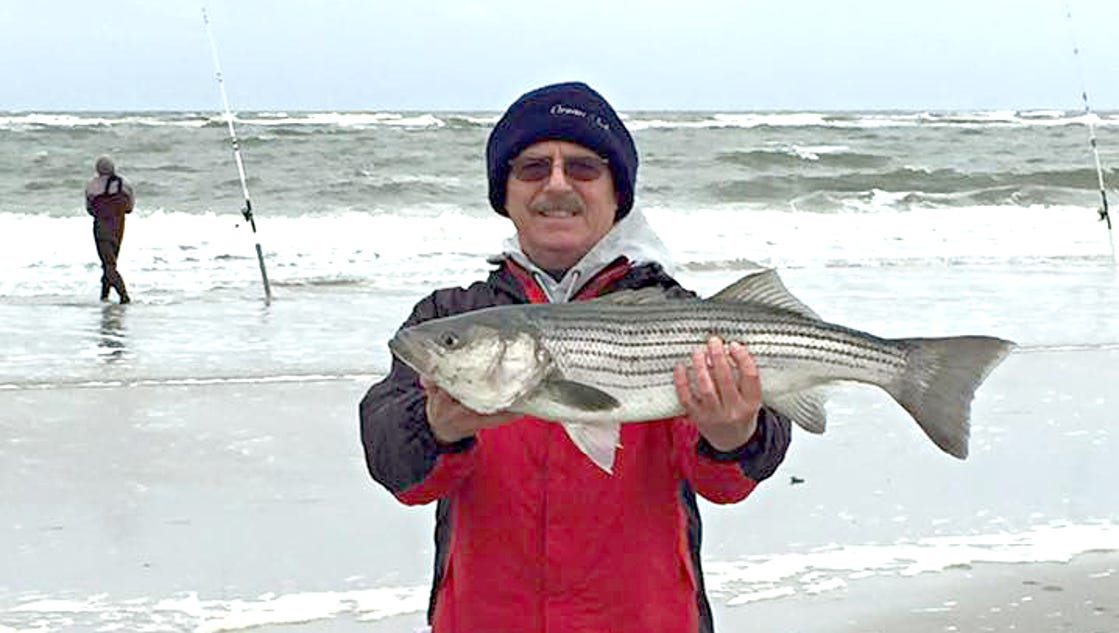 Fishing phenomenal striper action in south jersey for Surf fishing for stripers