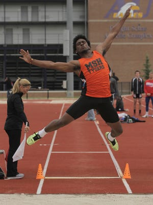 Mansfield Senior's Jornell Manns heads to the Amherst regional as a district long jump champion.