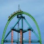 Kingda Ka, with Zumanjaro: Drop of Doom, at Six Flags Great Adventure in Jackson.