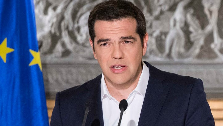 Greek Prime Minister Alexis Tsipras addresses the nation
