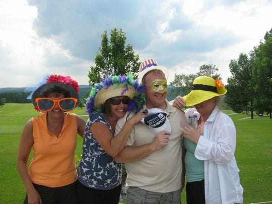 From left: Donna Barker, Patty Juriga, Bill Brown and Michele Brown.