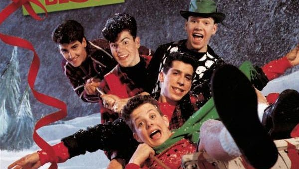 """Album cover for New Kids On The Block - """"Merry, Merry Christmas"""""""
