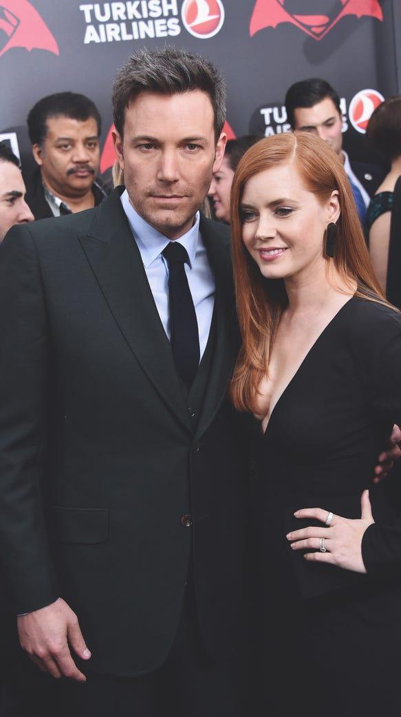 "Affleck and Amy Adams attend The ""Batman V Superman:"