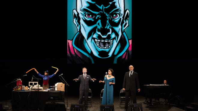 "The combined work of three voice actors, a Foley artist and a pianist bring the story of ""Intergalactic Nemesis"" to life."
