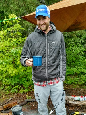 Work smarter, not harder on your next minimalist camping trip. A suspended tarp performs well in both sun and rain.