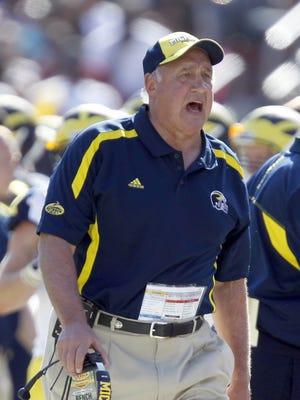 Michigan defensive coordinator Greg Mattison.