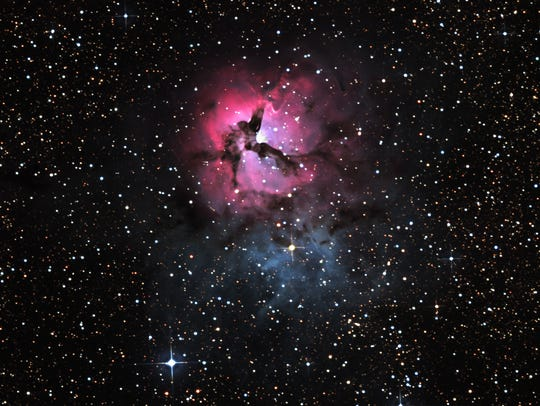 Ted Wolfe captured this image of the Trifid Nebula