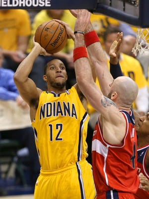 Evan Turner saw his playing time and scoring average dip during his stint with the Indiana Pacers. He has reached agreement to play next season with the Boston Celtics.