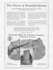 Early 1920s ad for Boutwell, Milne & Varnum