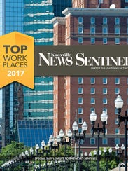 Cover of Knoxville Top Workplaces print section