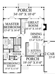 Unusually for a home under 2,000 square feet, the layout gives a private bathroom to each bedroom.