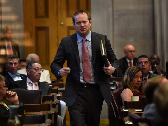 Former Rep. Jeremy Durham was penalized more than $465,000 in 2017 for violating the state's campaign finance laws hundreds of times. An administrative law judge said that fine should be reduced to just $110,000.