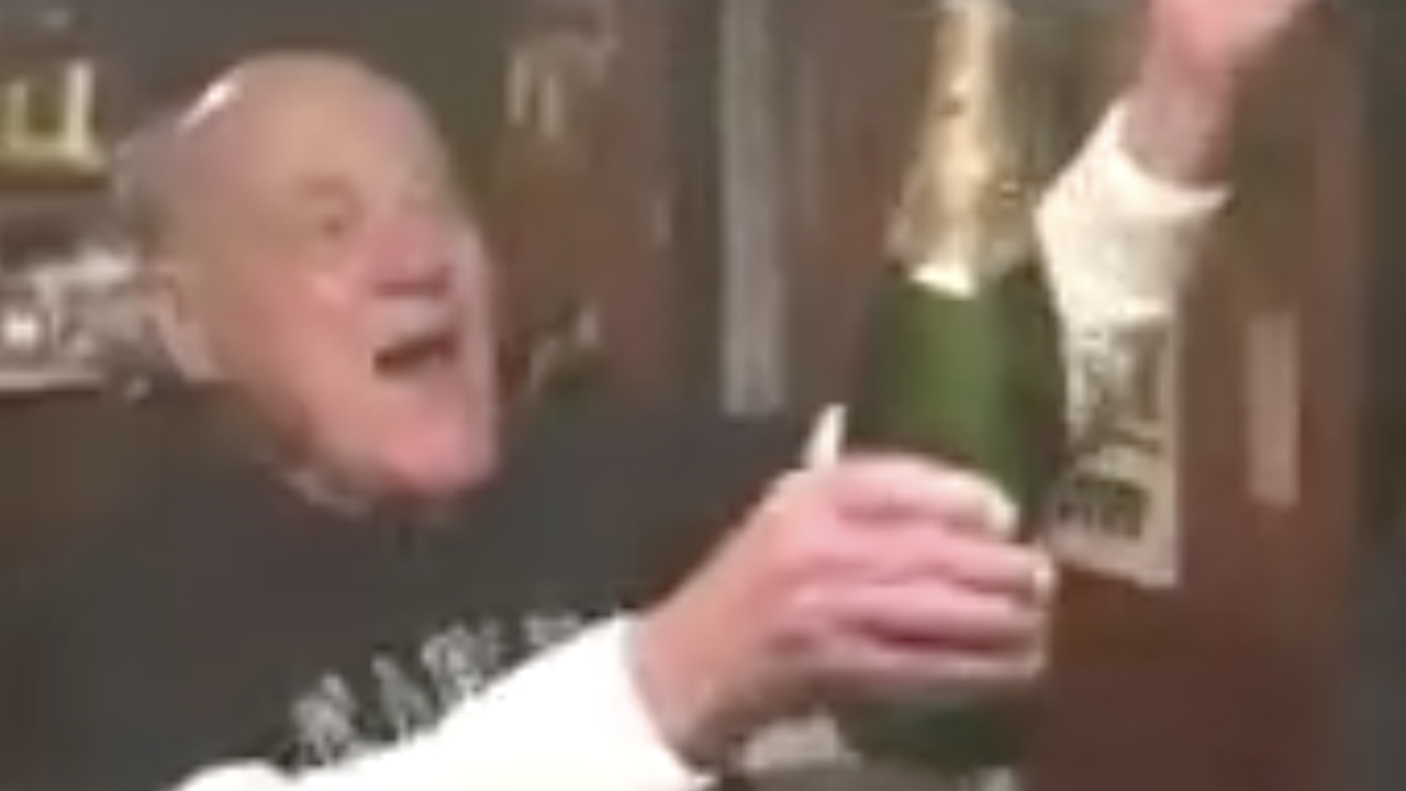 Eagles fan Frank Markert, of Dover, finally got a chance to pop a 37-year-old bottle of champagne after Super Bowl victory.