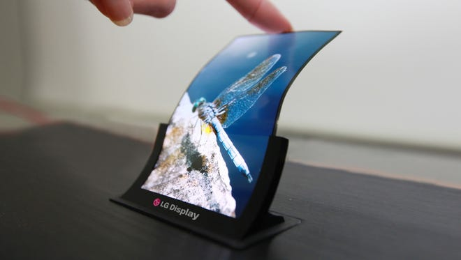 A flexible OLED display from LG.