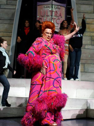 """Harvey Fierstein, seen here in his portrayal of """"Hairspray's' Edna Turnblad, will adapt the script for NBC's 'Hairspray Live.'"""