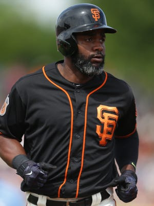 San Francisco Giants center fielder Denard Span.