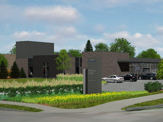 A new Broadlawns extension clinic is under construction