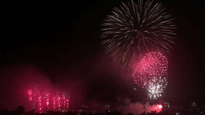 The night sky was illuminated over the Charles River during the 2017 Boston Pops Fireworks Spectacular. The Pops have moved their 2020 Fourth of July celebration online.