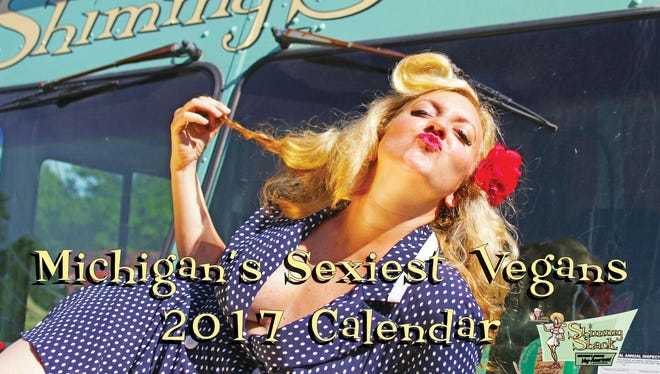 The cover of the 2017 Michigan's Sexiest Vegans Calendar