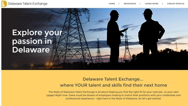 Delaware's new Talent Exchange website is designed to help unemployed workers find jobs, while tracking the pool of available talent to attract new companies to the state.