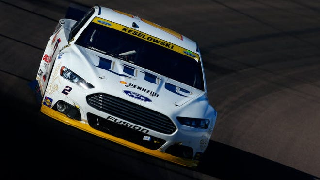 Brad Keselowski, driver of the No. 2 Miller Lite Ford, was eliminated from the Chase for the NASCAR Sprint Cup after finishing fourth at the  Quicken Loans Race for Heroes 500 at Phoenix International Raceway.