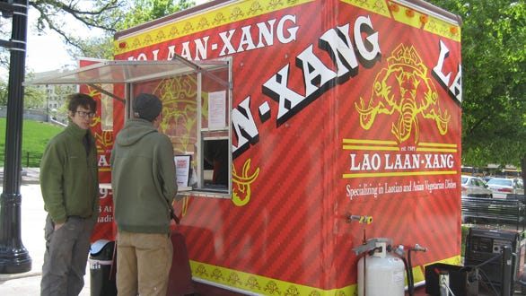 Operators of Lao Laan-Xang years ago used a food cart to introduce consumers to their cuisine in Madison; now two restaurants with that name operate within one mile of each other, at 1146 Williamson St. and 2098 Atwood Ave. on Madison's east side.