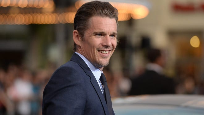 """Ethan Hawke, star of the 12-year-spanning """"Boyhood,"""" is shooting his role as jazz great Chet Baker in the biopic """"Born to be Blue."""""""